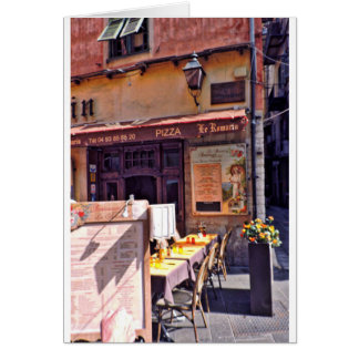 French cafe scene card