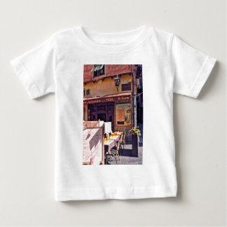 French cafe scene shirt