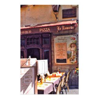 French cafe scene stationery