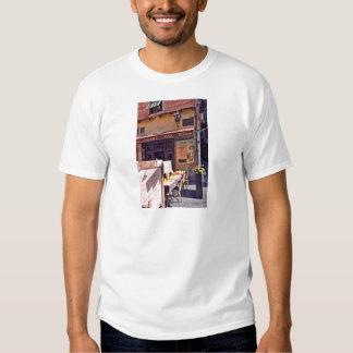 French cafe scene tee shirt