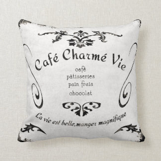 French Cafe Sign - Pillow