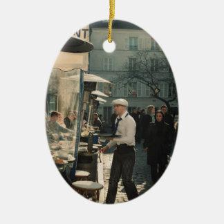 french cafe waiter ceramic ornament