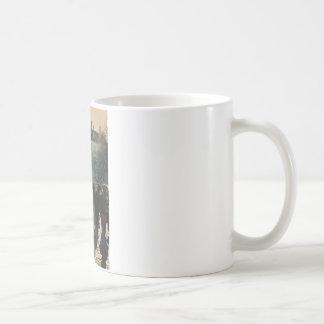 french cafe waiter coffee mug