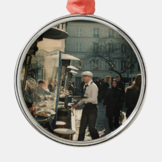 french cafe waiter metal ornament