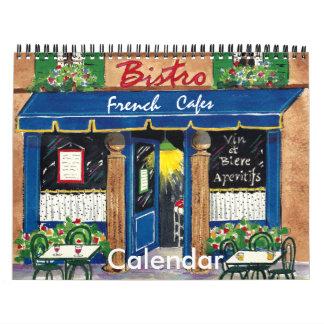 French Cafes, Calendar 2013
