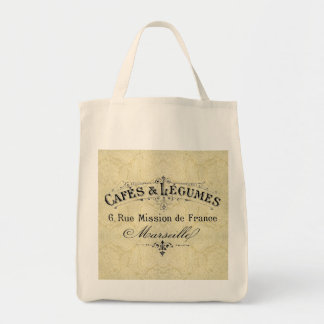 French Cafes & Legumes Grocery Tote Grocery Tote Bag