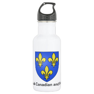 French Canadian and Proud Stainless Steel Water Bottle