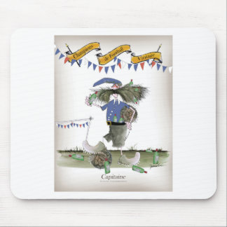 french capitaine footballeur mouse pad