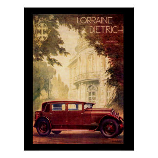 French Car 1920's Vintage Poster