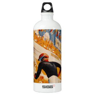french car race vintage - 24h du Mans Aluminum Water Bottle