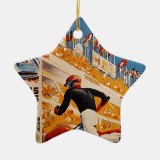french car race vintage - 24h du Mans Ceramic Ornament