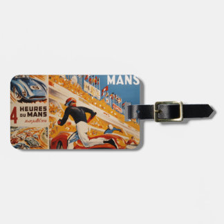 french car race vintage - 24h du Mans Luggage Tag