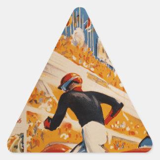 french car race vintage - 24h du Mans Triangle Sticker