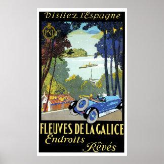 French Car Travel Ad Print
