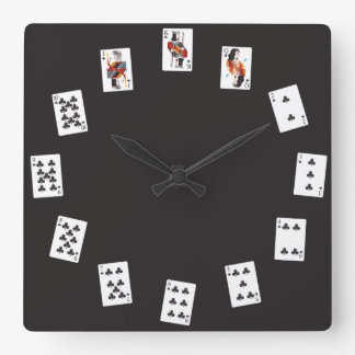 French Card Deck Clock (Clubs)