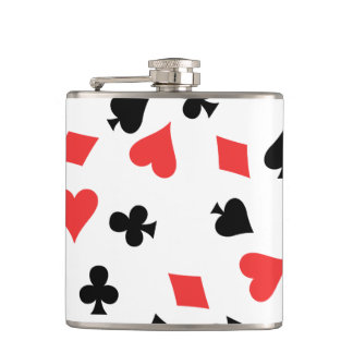 French Card Hip Flask