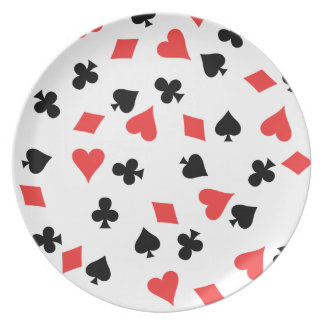 French Card Melamine Plate