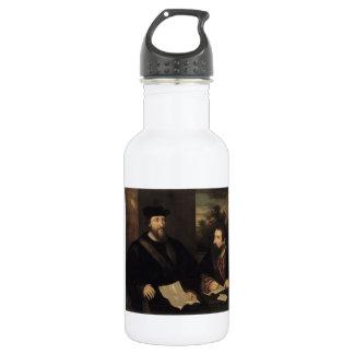 French Cardinal d`Armagnac & secretary by Titian 18oz Water Bottle
