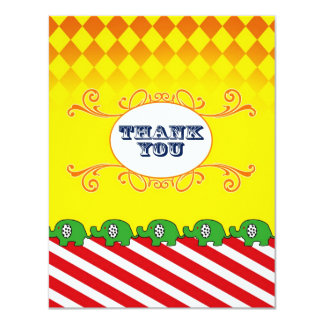 French Carnival Thank You Flat Note Card