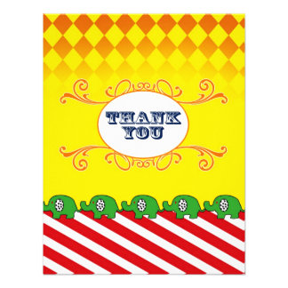 French Carnival Thank You Flat Note Personalized Invitation