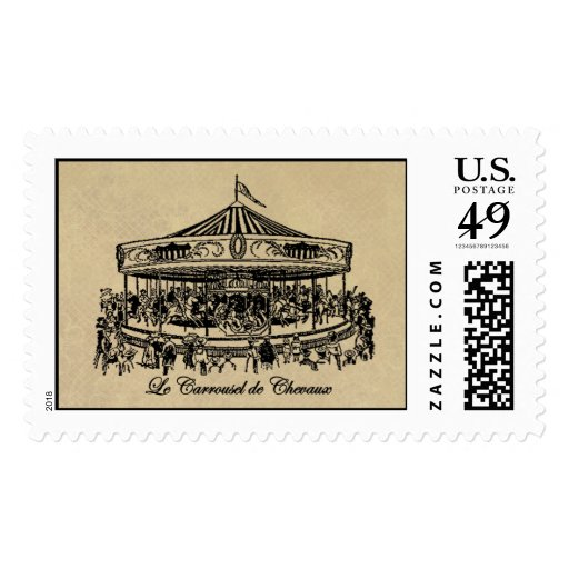 French Carousel Horses Apparel and Gifts Postage
