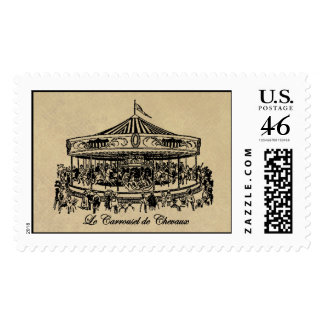 French Carousel Horses Apparel and Gifts Stamp