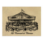 French Carousel Horses Apparel and Gifts Postcard