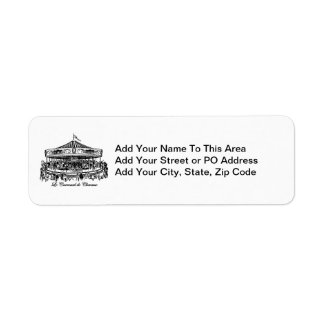 French Carousel Horses Apparel and Gifts Return Address Label