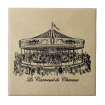 French Carousel Horses Apparel and Gifts Ceramic Tile