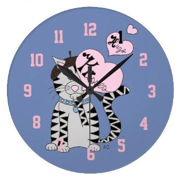 Beach Themed French cat veterinarian's office clock