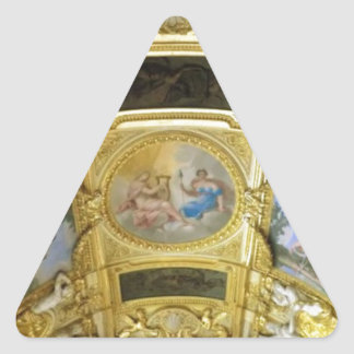 french ceiling painting triangle sticker