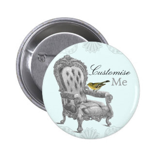 French Chair CLASSIC name badge button