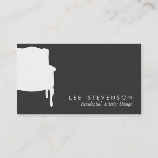 French business cards zazzle french chair interior designer business card colourmoves
