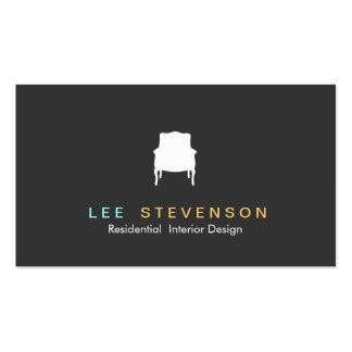 French Chair Logo Interior Designer Business Card