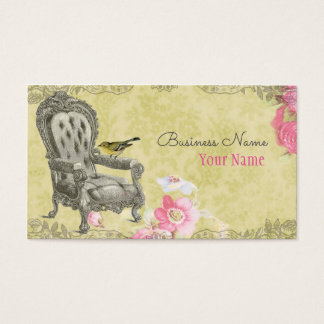 French Chair on Spring Green Business Card