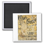French Champagne-1899 - distressed Refrigerator Magnets