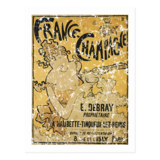 French Champagne-1899 - distressed Postcard