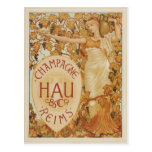 French Champagne ad Postcard