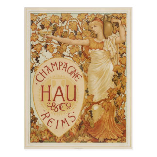 French Champagne ad Postcards