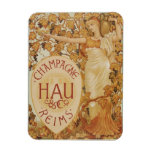 French Champagne ad Rectangular Magnets