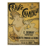French Champagne Poster