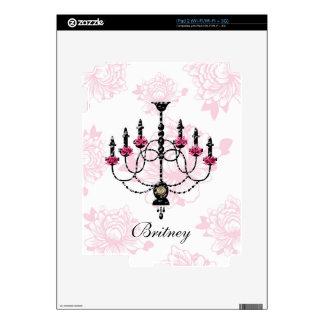French Chandelier Pink Floral Garden iPad 2 Skin