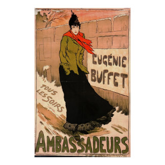 French Chanteuse 1893 Poster