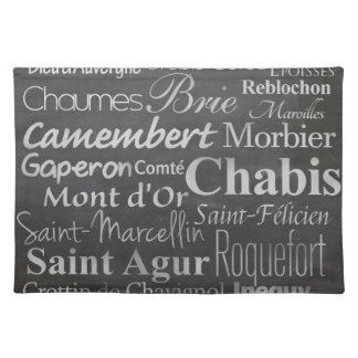 french cheese chalkboard cloth placemat
