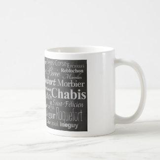 french cheese chalkboard classic white coffee mug