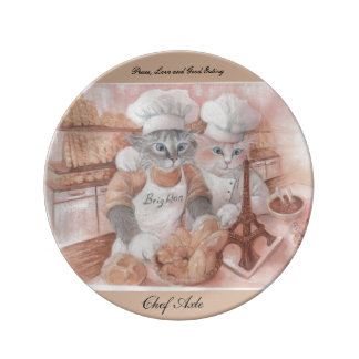 French Chef Axle Hanging Plate Porcelain Plate