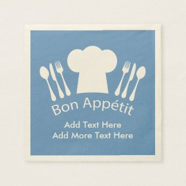 antiqueimages French Chef Bon Appetit Add Your Own Text Paper Napkin