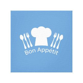 French Chef Bon Appetit Restaurant or Kitchen Canvas Print