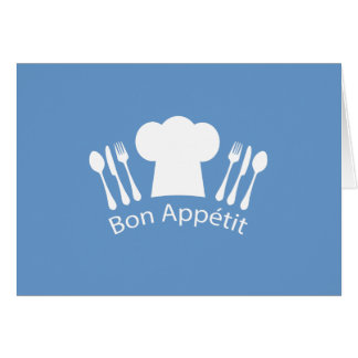 French Chef Bon Appetit Restaurant or Kitchen Card