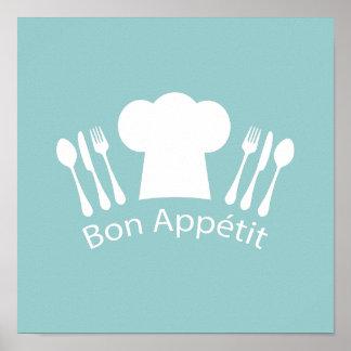 French Chef Bon Appetit Restaurant or Kitchen Poster